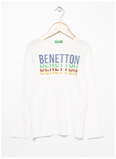 Benetton Tişört Krem